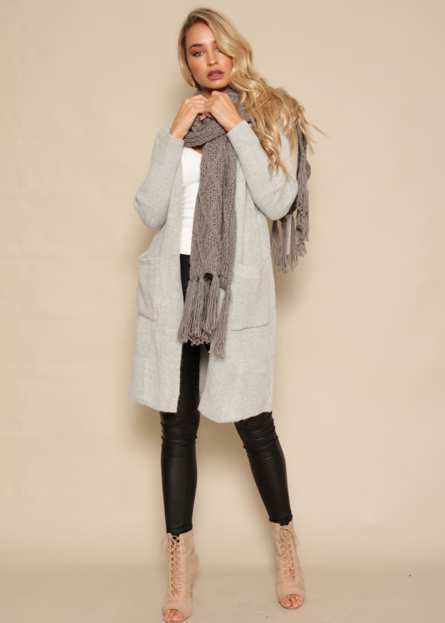 Magic Happens Cardigan - Light Grey