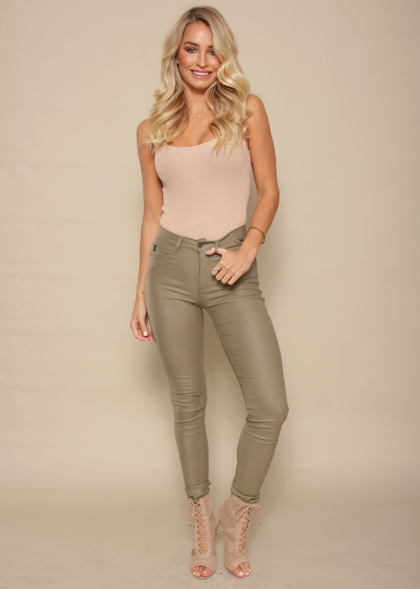Kansas City Ribbed Bodysuit - Blush