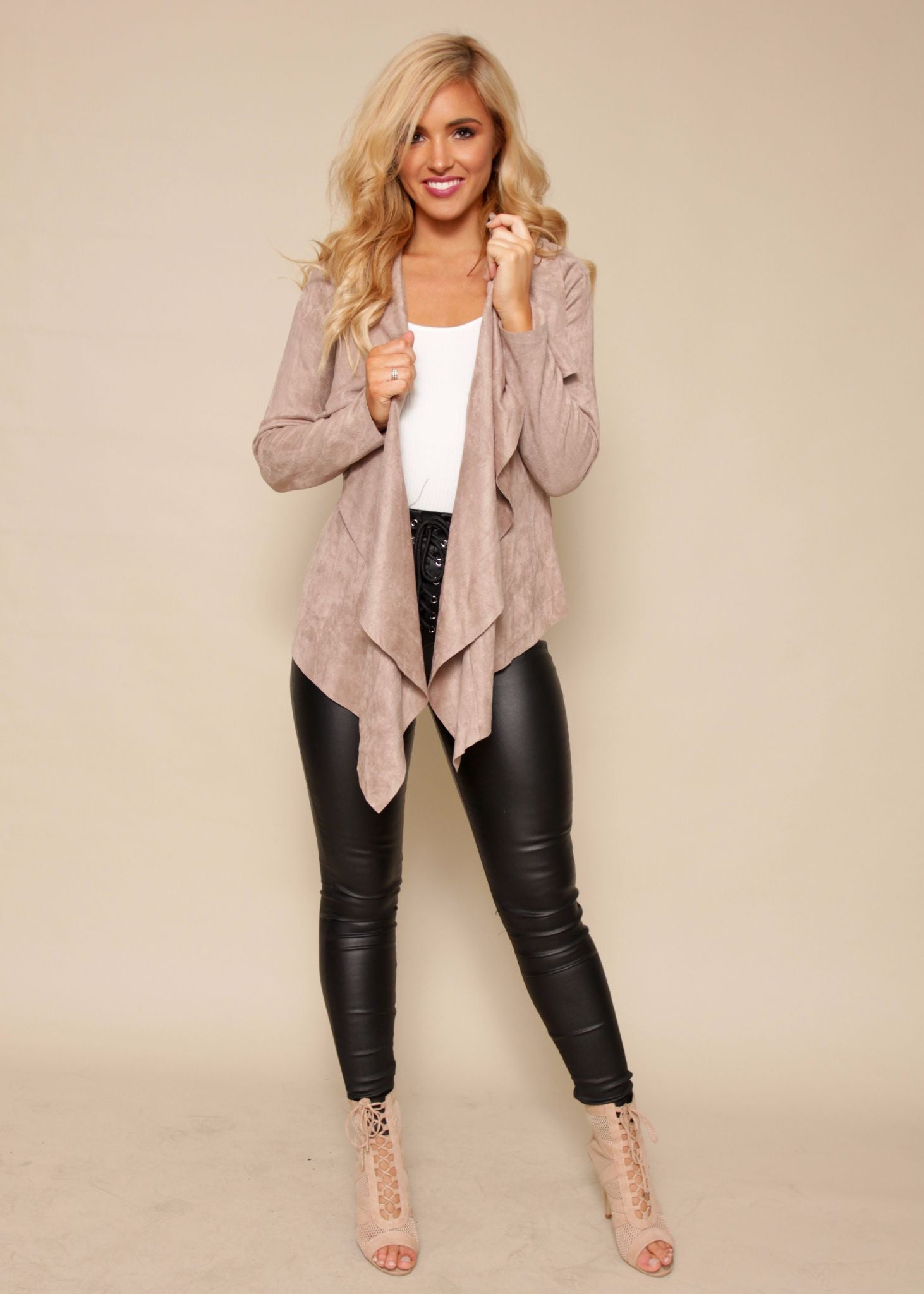 Love Season Jacket - Taupe Suede