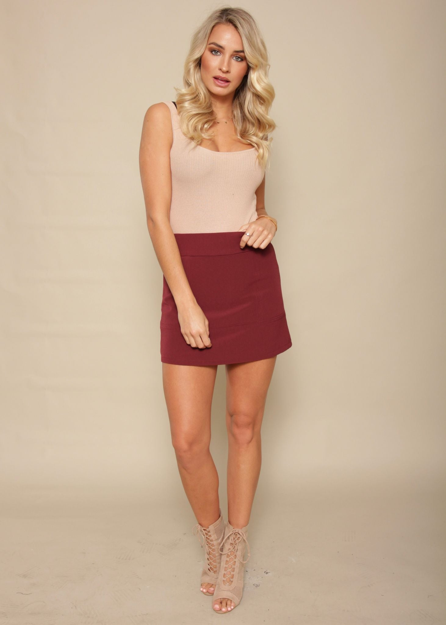 Weekend Lover Skirt - Wine