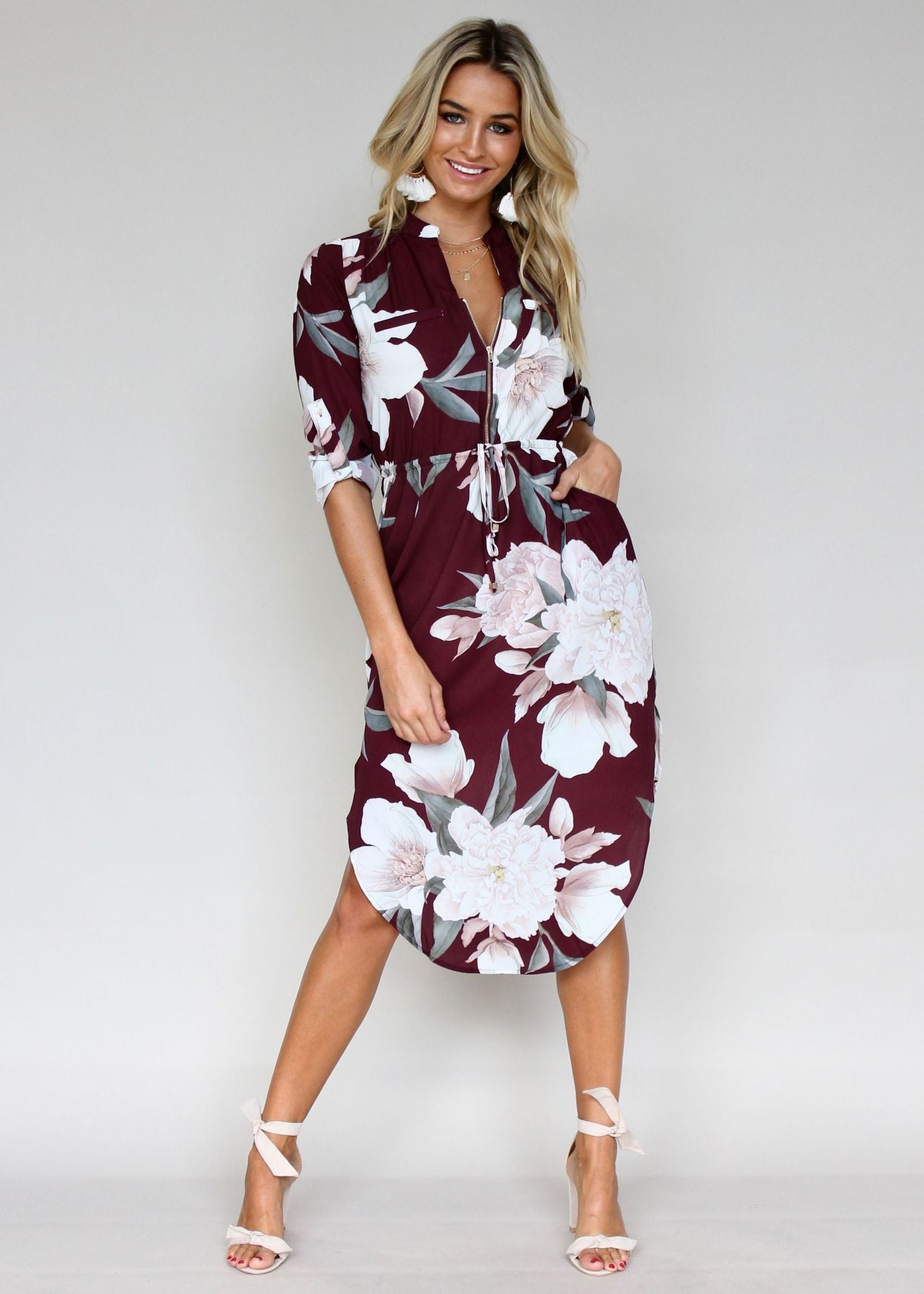 Let Me Lead Midi Dress - Mulberry