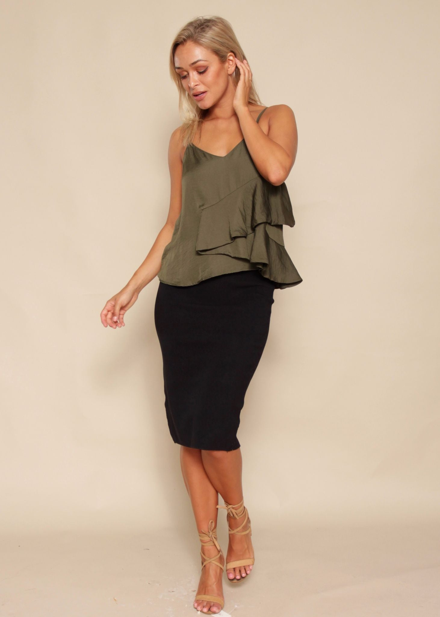 Talkin' Bout You Cami - Khaki