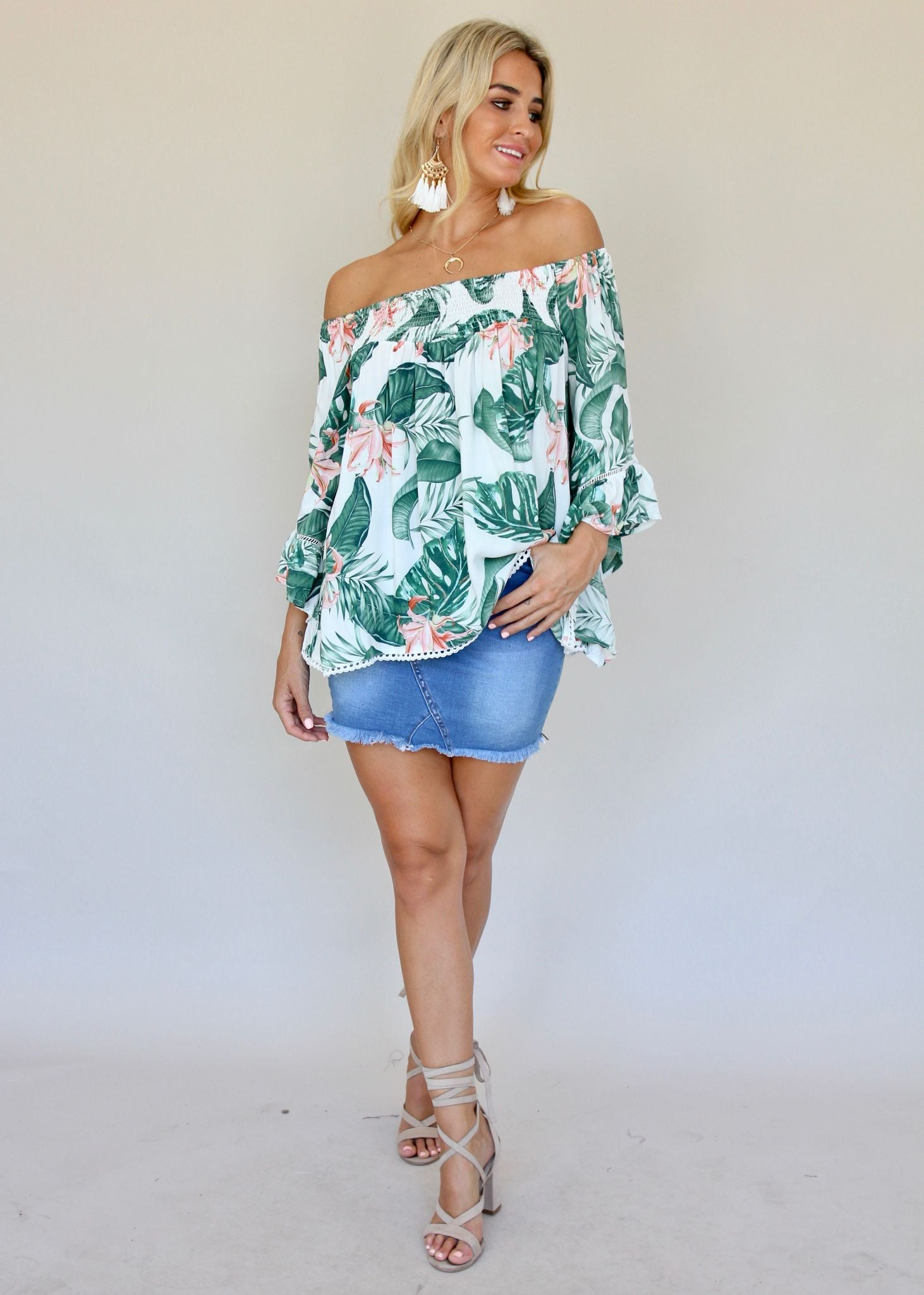 Sugar Night Off Shoulder Top - Florida