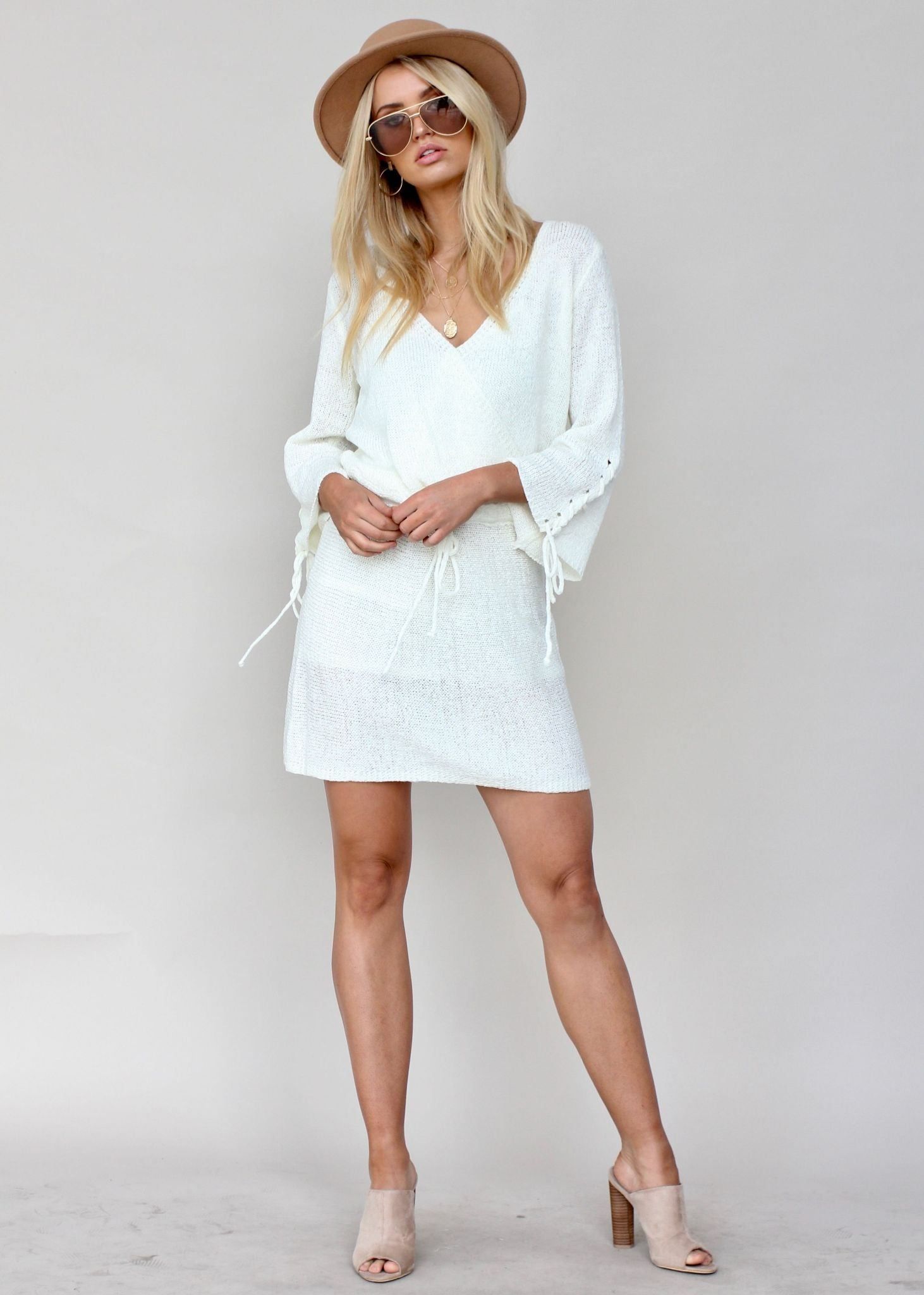 Holiday Island Knit Dress - Ivory