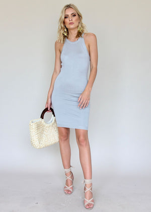 Tell Me Again Midi Dress - Grey