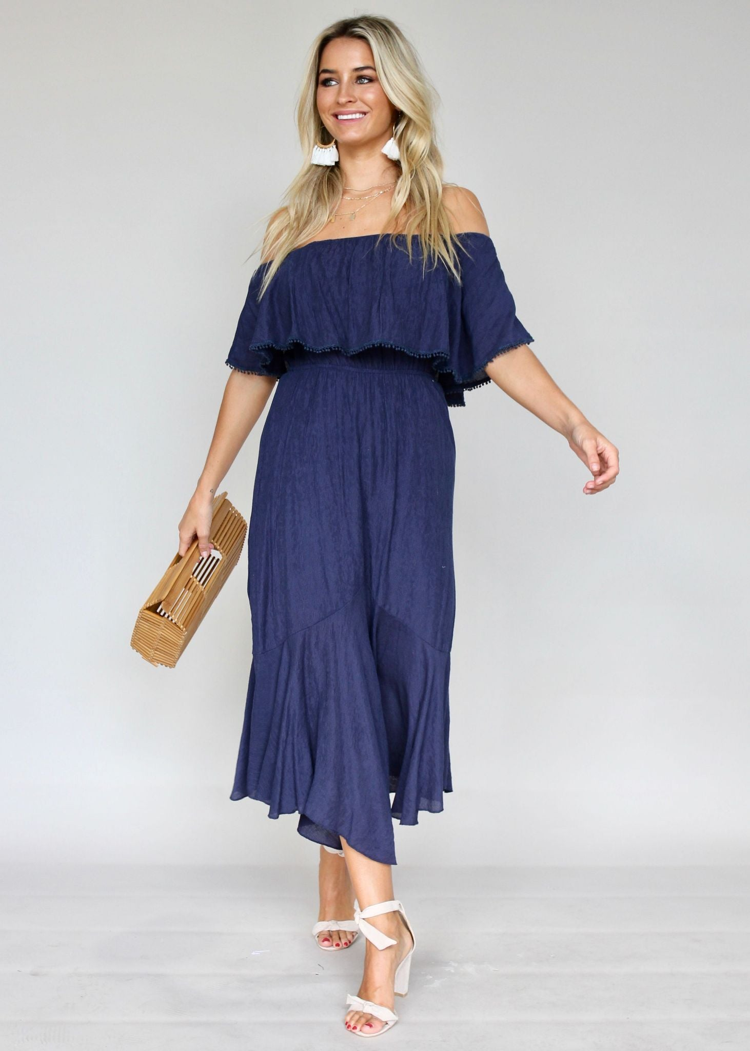 Hampton Summer Dress - Navy