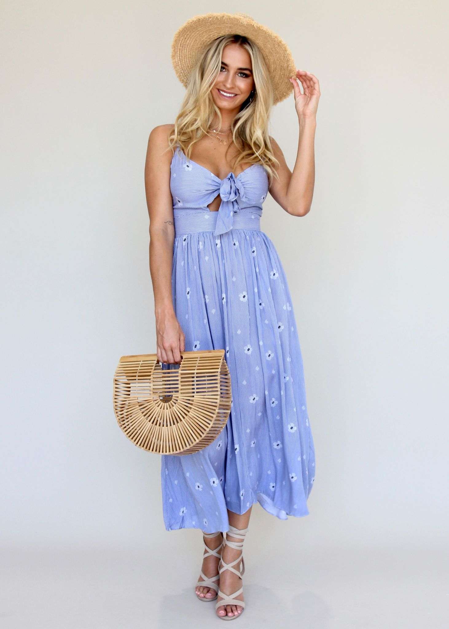 Cool Waters Dress - Light Blue