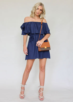 Keep You Forever Dress - Navy