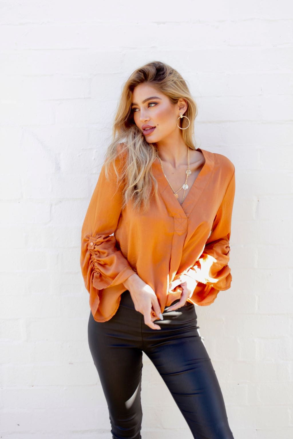 Every Moment Blouse - Rust