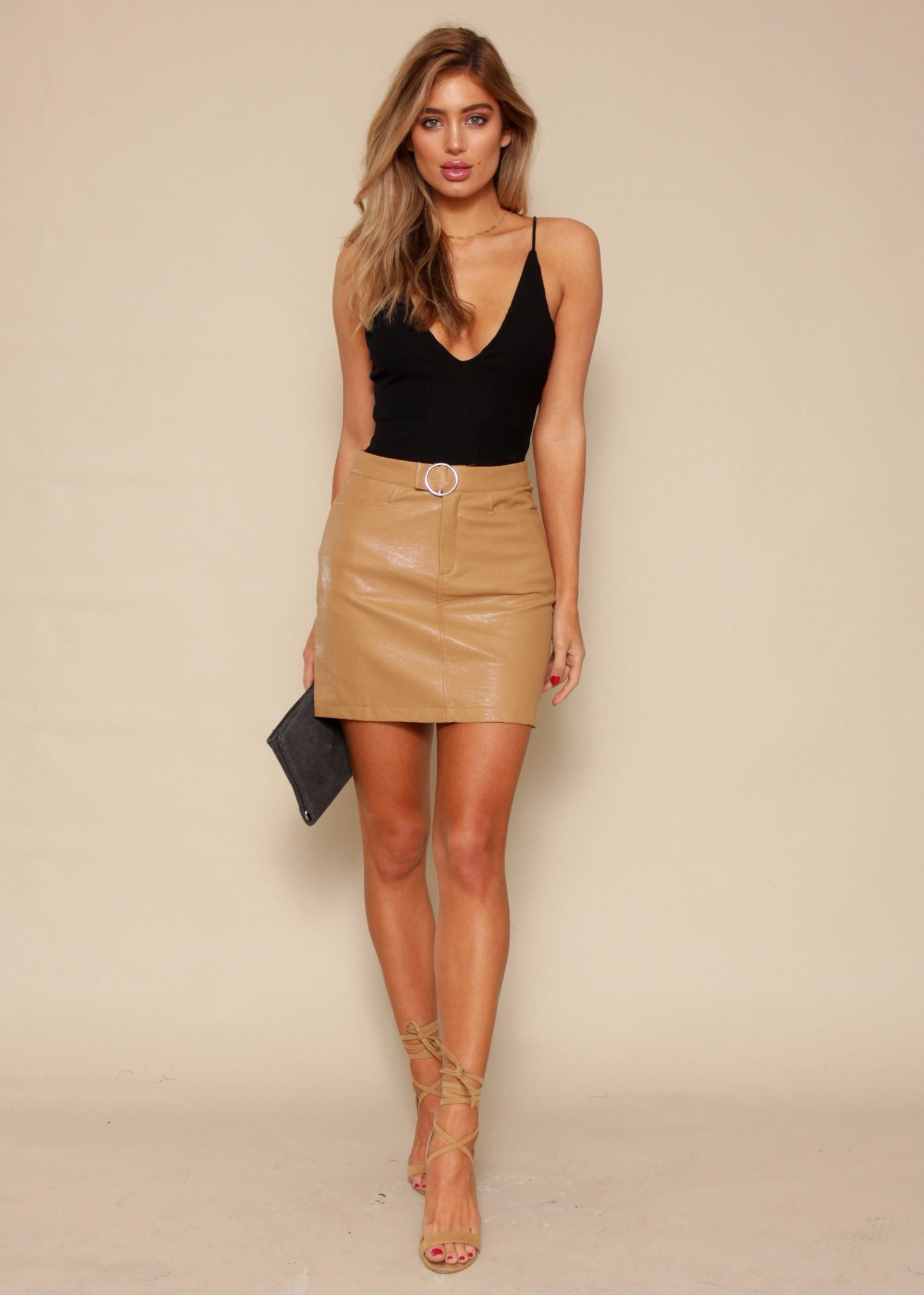 Block to Block Skirt - Camel