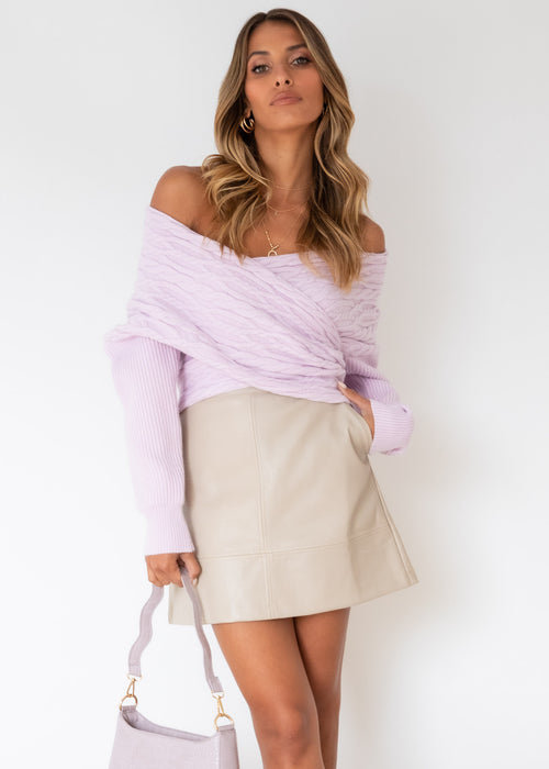 Halina Sweater - Lilac