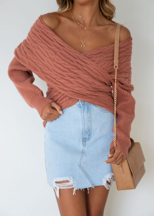 Halina Sweater - Rose