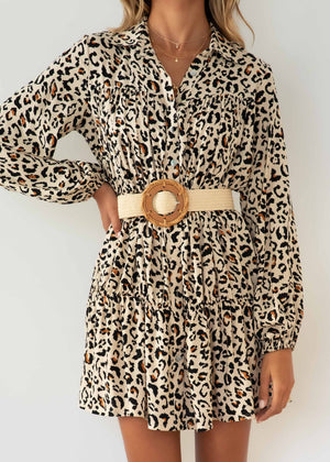 Elainy Dress - Leopard