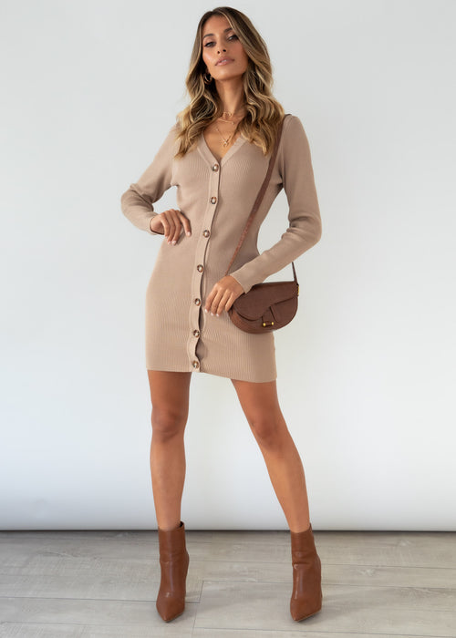 Emmit Knit Dress - Coffee