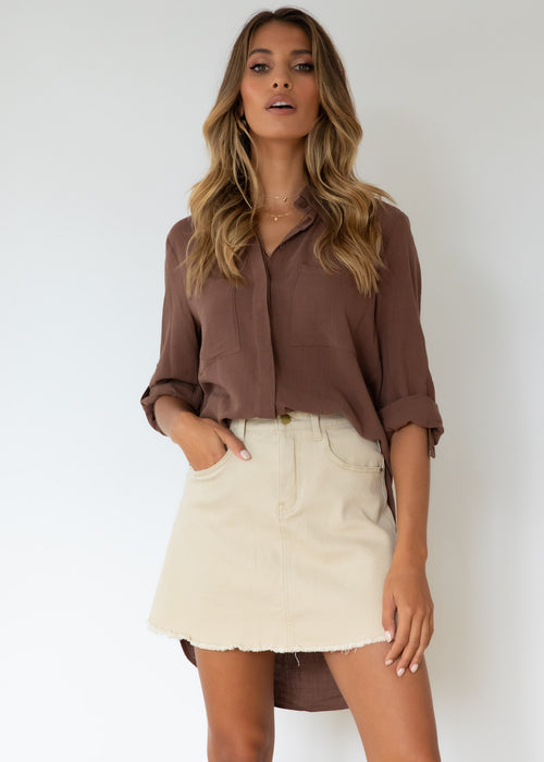 Akeisha Shirt - Chocolate