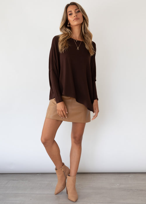 Louie Knit Top - Chocolate