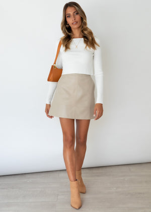 Larina Knit Top - Off White
