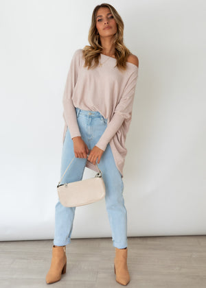 Ryden Knit Top - Beige