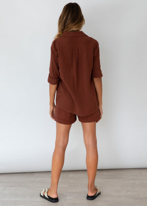 Zeplyn Blouse - Chocolate
