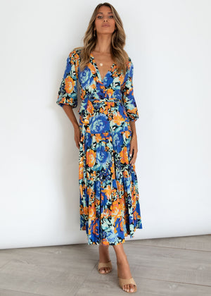 Lavidia Midi Dress - Chicago Blue