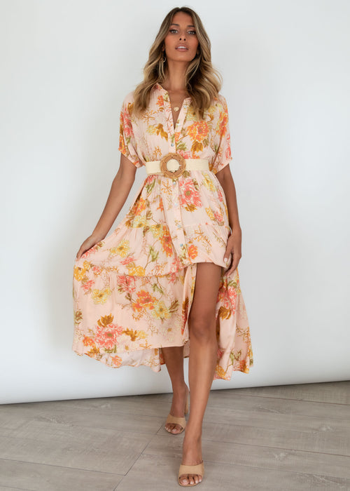 Tucana Midi Dress - Blush Rosa