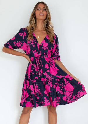 Ambrosia Dress - Navy Angelica