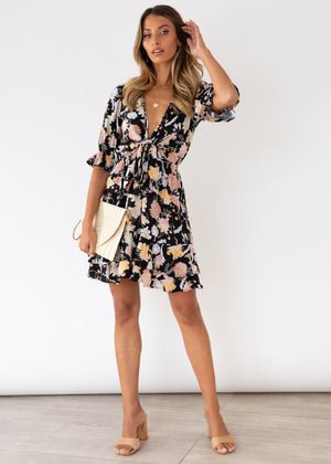 Ryley Tie Dress - Carolina