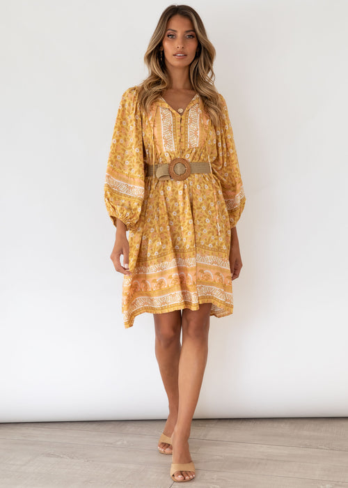 Adela Midi Dress - Honeysuckle