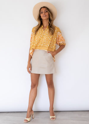 Sierra Blouse - Honeysuckle