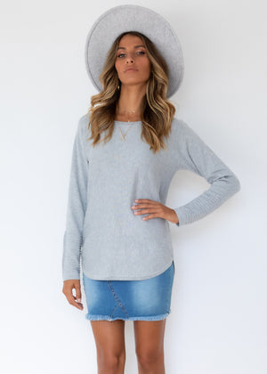 Always Mine Knit Top - Grey