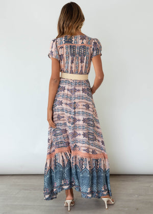 Carmen Maxi Dress - Caribbean