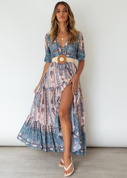 Tessa Maxi Dress - Caribbean