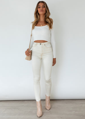 High Waisted Gelato Legs - Beige