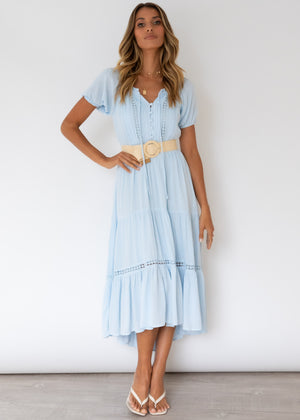 Zephyr Midi Dress - Baby Blue