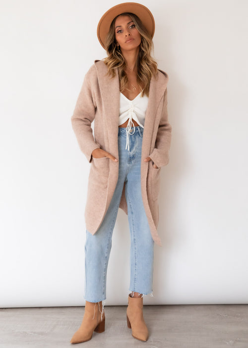Raye Hooded Cardi - Blush