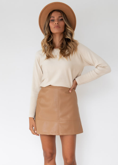 Always Mine Knit Top - Beige