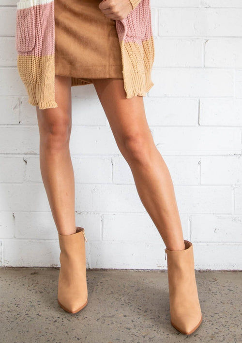 Thurman Ankle Boots - Camel