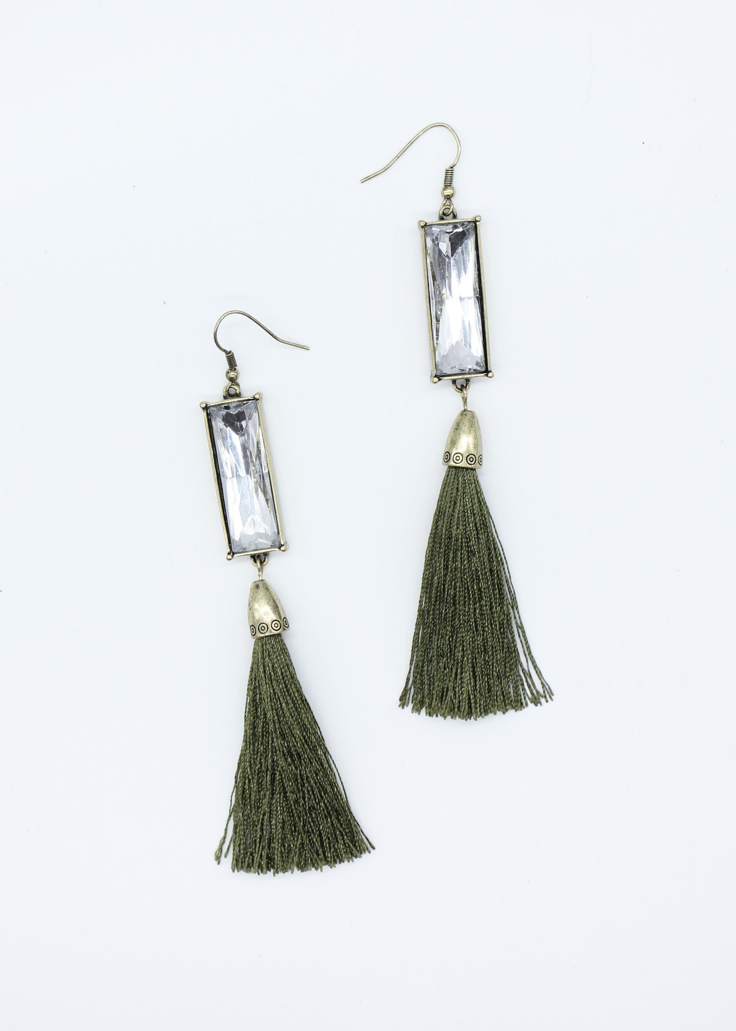 Caicos Earrings - Olive