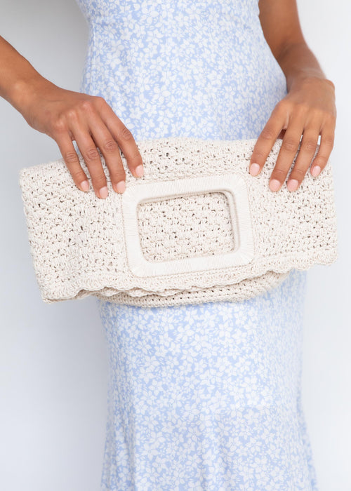 Amy Crochet Bag - Cream