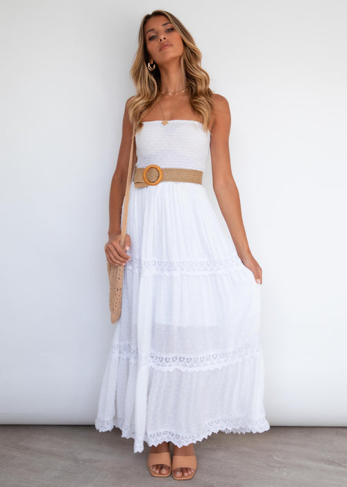 Wrennie Strapless Maxi Dress - Off White