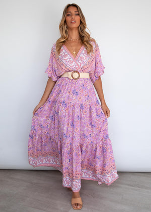 Riveria Maxi Dress - Lilac Floral