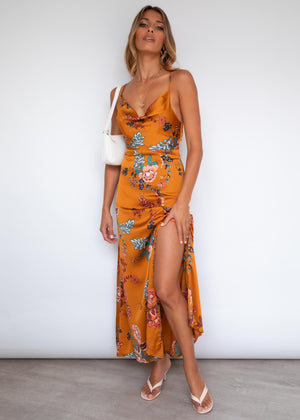 Tamryn Maxi Dress - Golden Blooms