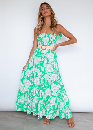 Warner Maxi Dress - Gardenia Green
