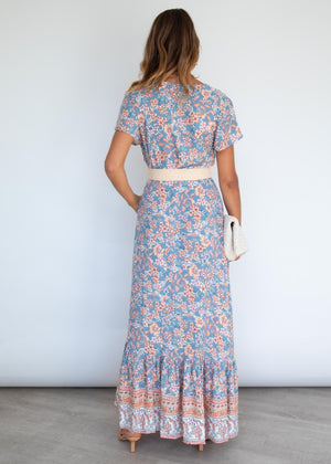 Omnia Maxi Dress - Vintage Blue