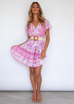 Zeela Dress - Harper Pink