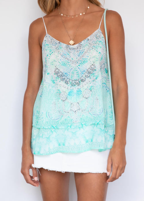 Oxley Cami - Aqua Summer