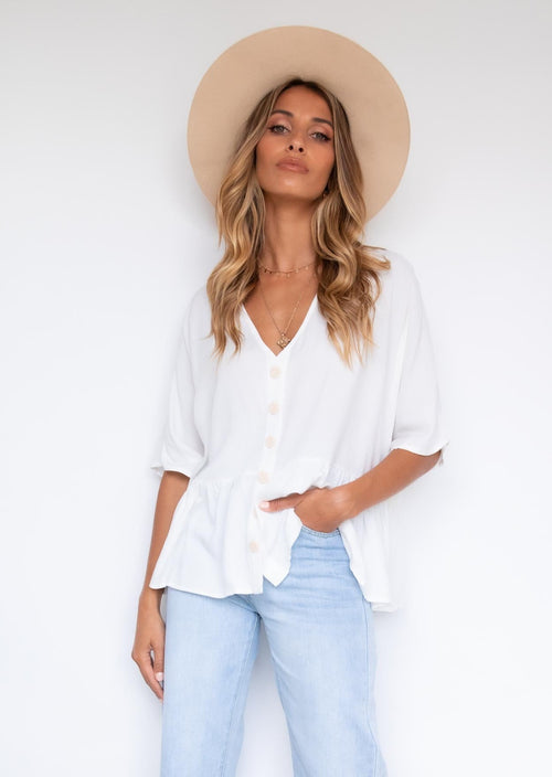Cadence Blouse - White