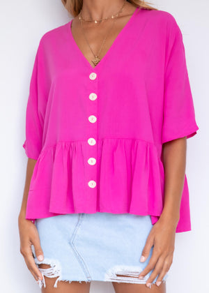 Cadence Blouse - Pink