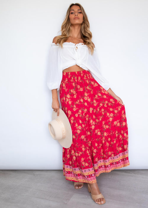 Ripley Maxi Skirt - Berry Summer