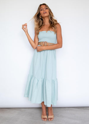 Kalyn Strapless Midi Dress - Sage